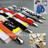 free shipping the latest fashion nylon elastic boys/girls/kids/children's suspenders /straps/braces14 colors p-7