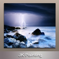 Modern Seascape Photo Printing of Realistic Art Painting without Wooden Frame for Decoration Custom -- Beautiful Wall Painting