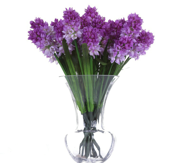 Simulation 3 Flower Heads Purple Hyacinth Bouquet Artificial Flowers Christmas Home decorations(China (Mainland))
