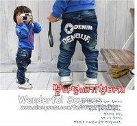 Hot sale!Free shipping 1pcs/lot,Boys jeans kids pants Children trousers Korean straight style Baby denim jeans