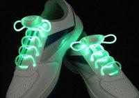 100 pcs(50 pairs)/lot 2012 newest 3G hot olive LED flashing Glow shoes laces fashion DISCO Party Skating-Free shipping