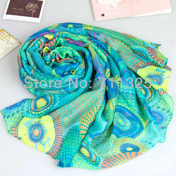sunscreen miracle circle cape women's long silk viscose viskose scarf elegant scarf muffler scarf(China (Mainland))