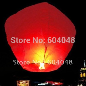 Wholesale 20 pcs/lot pure color Sky Lanterns Sky Lamp flying paper Wishing Lamp Wish gift Flying Lantern for birthday wedding pa