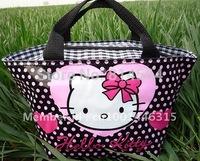 Hello kitty cute lunch bag Black Girls Handbag #58