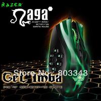 Original Razer Naga Hex Green Edition, 5600dpi Razer Precision 3.5G Laser Sensor, Oriignal & Brand new in BOX, Free shipping