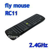Freeshipping Gyroscope Mini Fly Air Mouse RC11 2.4GHz wireless Keyboard for google android Mini PC TV Palyer box dropshipping