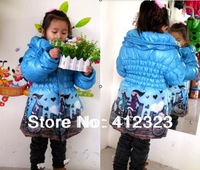 free shipping children girls winter clothes jacket coat overcoat kids thick coats Parkas outwear with fleece
