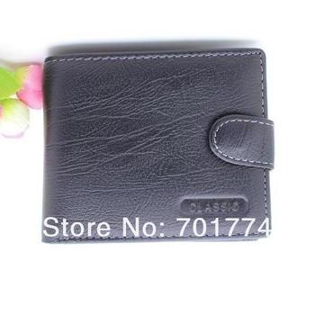 !100% Mens Черный Real Натуральная кожа Bifold Clutch Wallet CКрасныйit ID Card ...