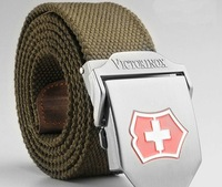 Swiss army knife male lengthen thickening canvas belt military outdoor casual strap