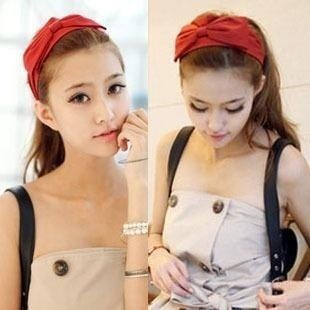 12pcs/lot Free Shipping Fashion Wide Cotton Headbands for Women Prom Hair Band Accessories Cloth Hair Bow Hairband Jewelry