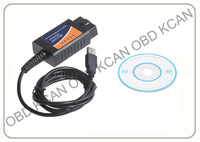 Free Shipping OBD/OBDII scanner ELM 327 car diagnostic interface scan tool ELM 327 USB Metal elm327 usb diagnostic tool