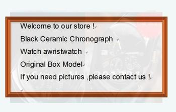 fashion brand mens Black Ceramic Chronograph Watch awristwatch With Original Box Model