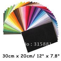 polyester,felt fabric,DIY felt fabric,non-woven felt, 30CMX20CM,42 colors/lot