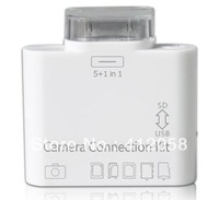 wholesale 300pcs 5+1 in1 Camera connection kit card reader for ipad DHL FEDEX free shipping