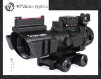 Vector Optics Goliath 4x32 Tactical Compact Riflescope Fiber Optics Sight Tri-Illumination Chevron Reticle