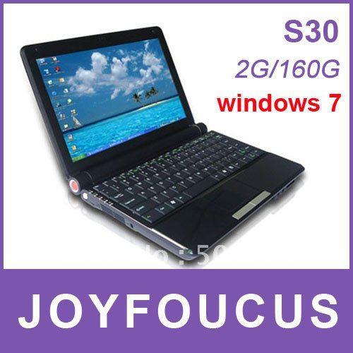 Popular Laptop S30 10.2'' LCD WSVGA Wide-screen  2G RAM 160G Intel D2500 1.8G CPU / Albert C ...