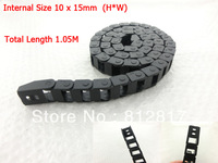 10*15mm Plastic Flex Wire Cable Carrier Drag Chain Black