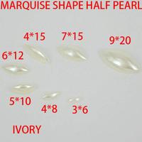 Free shipping  imitation pearls eye shape flatback pearls nail cellphone laptop art   many sizes to choose