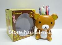 Plastic Bear Pencil Vase Money Box