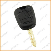 free shipping  remote key case fob 2 buttons whole sale for citroen no logo car key