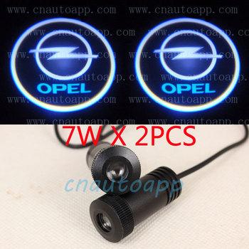 OPEL LOGO Car LED Emblem  Welcome Light Door Step Ground Projecting Lamp For Astra Antara Insignia Zafira Corsa Vectra etc