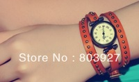 wholesale Genuine Cow leather fashion Punk Wrap Women watch.%100 TOP quality
