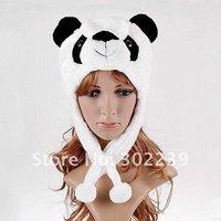 Cartoon Animal Hat Panda Cute Fluffy Plush Winter Warm Hat Hats Cap Free Shipping W4134