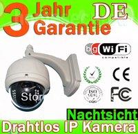 3X Optical Zoom PTZ Wasserdicht outddor wireless IP camera Kamera nightvision IR-Cut WiFi