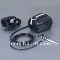 5%OFF!!!Portable Makeup Airbrush Mini Air Compressor with Spray Gun kit 5 Speed Airbrush tattoos 24 hours Working FREE SHIPPING