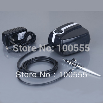 Portable Makeup Airbrush Mini Air Compressor with Spray Gun kit 5 Speed Airbrush tattoos 24 hours Working FREE SHIPPING