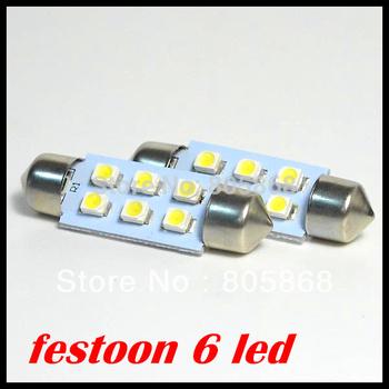 Wholesale Car led festoon light c5w 6 SMD led 6smd 3528 1210 31MM 36MM 39MM 41MM Auto led bulbs