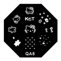 Free Shipping, 30 Styles Octagon Stainless Steel Hello Kitty Nail Art Stamp Stamping Template, Printing Image Plate, 30pcs/lot