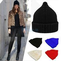 Free shipping Brand 2014 New Unisex Cotton Hip Hop Pointy Warm Beanie Cap Winter Autumn Women Knitted Hats Men Beanies 80192