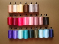 """free shipping 1"""" 2.5cm ,100%polyester ribbon ,double face , 23colors ,MOQ is 100yards ,can mixed batch"""