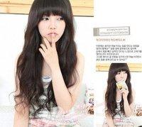 Long Curly Wave   Black / Brown 3 Color  Women Kanekalon  Party Hair Full Fashion wig