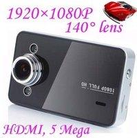 2.7 inch Full HD 1920*1080P 25fps Car DVR Video Recorder+120 degree view angle+ 5.0 Megar Pixels Camera+ HDMI out k6000