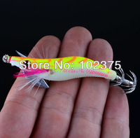 Hot 8pc/lot Fishing lures Exported to Japan New design 2.0# Squid Jigs Squid Hook 4 Color Mix Free shipping