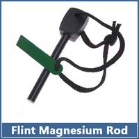 50pcs Survival Magnesium Flint Stone Fire Starter Lighter Maker Flint Rod Stell Outdoor Camping Kits  tool