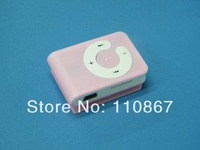 3000pcs/lot Hot-selling Free shipping Fashionable protable clip mp3 player with C keys support TF card no package drop shipping