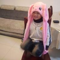 Punk Style Wholesale 5pc/lot long style long ear rabbit toy caps/hats warm cartoon hats+gloves+scarves 2color