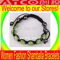Shambala Charm 10mm Disco Ball Bead Bracelet  New Paris Shambhala Rhinestone Crystal Fashion Jewelry New Arrived Free Shipping