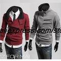 New fashion men hoodies sweatshirt fleece coat Free shipping outerwear Korean style cotton jacket MS1807