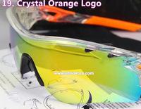 Free shipping Crystal Orange sport eyeglasses radarlock Men sun glasses occhiali anteojos 5 lens cycling eyewear oculos gafas