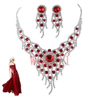 2013 Holiday season -Free Shipping  Hot Sale Rhinestone Wedding Jewelry Sets Best Presents For Bride 2T025