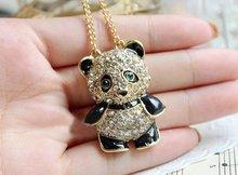 Fashion Panda With Rhinestone Necklace Panda Sweater Chain N33(China (Mainland))