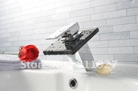 10 years guarantee factory sale CE approved good quality brass glass waterfall basin faucet  tap mixer with black color