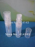 300pc/lot  2ml, 3ml,  white plastic spray bottle,small plastic bottle, sample cosmetic perfume bottle