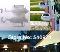 Outdoor Solar Powered 3LED Gutter wall Light Fence Lamp Waterproof garden wall lamp, 5pcs/lot