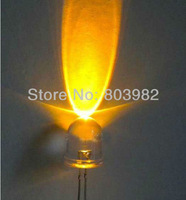 Round 8mm led Yellow color LED Diode 2.0-2.5V 585-595nm 2-PIN lamp bulb(CE&Rosh)