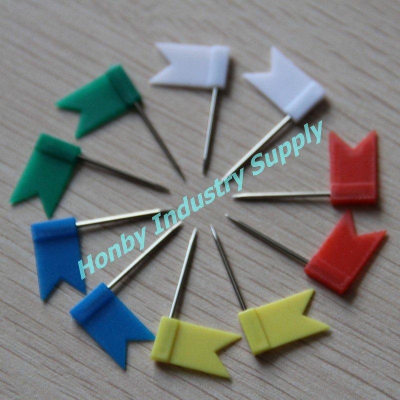 livraison gratuite 500 pcs lote mixte 5 couleur rectangle drapeau carte pin dans punaise de